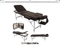 (BTM) Deluxe Lightweight Professional Aluminium Massage Table (couch) - 3 section with extras