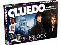 Cluedo Sherlock Edition + Taboo + Scrable Delirium!
