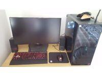 GTX 1080 GAMING PC + 144hz 1440p MONITOR + CORSAIR K70 KEYBOARD & RGB MOUSE