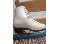 White ice skating boots size 5