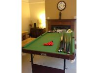 Excellent condition 6ft pool and snooker table plus all accessories