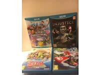Wii U Games - Zelda, Mario Kart, Injustice, Smash Bros