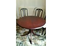 Dining extending table and 4 chairs