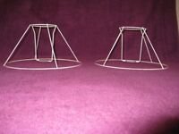 Wire Lampshade Frames x 2