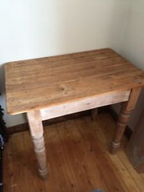 Old pine table