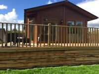 northumberland holiday lodge with hot tub by river