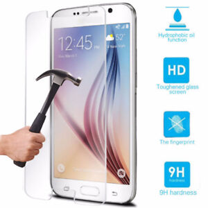 Samsung Galaxy S6 S7 iPhone 6 6S 7 Tempered Glass Screen Protect