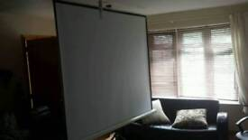 """Large 92"""" projector screen"""