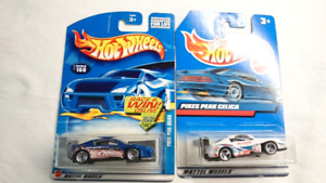 HOT WHEELS TOYOTA CELICA DIE CAST 2 CARS BLUE AND WHITE MINT