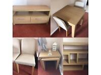 Full living / dining room furniture set.