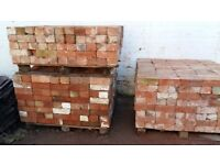 """reclaimed victorian 3"""" bricks and foof tiles"""