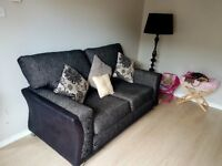 Large 2 seater sofa and swivel cuddkle chair