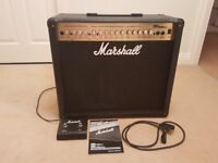 Marshall MG100DFX Amplifier with footswitch