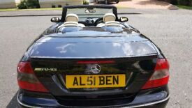 MERCEDES CLK CONVERTIBLE 280 AMG 7 G-TRONIC SAT NAV PRIVATE PLATE PADDLE SHIFT LEATHER F&R PARK SENS