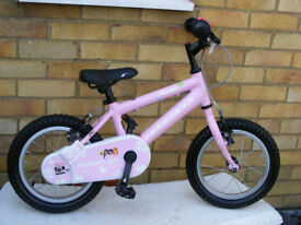 "GIRLS RIDGEBACK 14"" WHEEL BIKE IN GREAT WORKING ORDER AGE 4+ NO RUST"