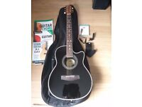 Electric accoustic guitar and extras