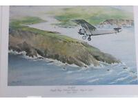 11 Vintage 1977 Pan American Prints Historic First Flights John T McCoy Plane Aviation Transport