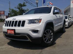 2016 Jeep Grand Cherokee Limited|LEATHER|CLIMATE CONTROL|4X4|