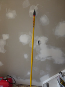 Extension pole for painting roller. Reaches 10 to 12 feet