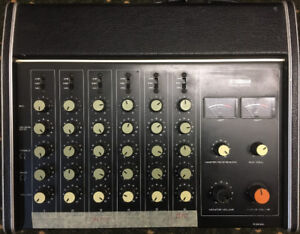 YAMAHA, EM-100, 6 channel mixer with 100W amplifier, reverb, EQ