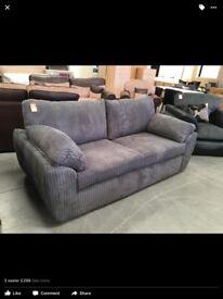New grey fabric sofa