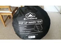 Sunncamp inner pop up tent 3 berth *never used*