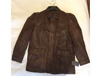 """Marc O'Polo Soft Brown Leather Mans Jacket (48"""" Chest)"""