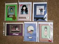 6 handmade cards - A5 size