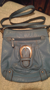Teal Leather Purse in EUC