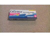 1x clear blue pregnancy test