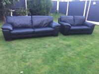 Italian leather large 3&2 seater highest grade leather modern sofas pristine condition. Can deliver