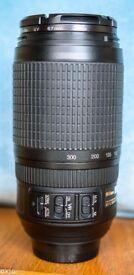 NIKKOR AF-S 70-300mm f4-5.6 G IF ED VR Lens..VGC