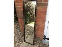 Vintage style long hall mirror