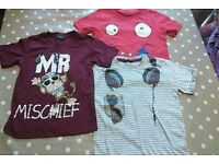 3 boys tshirts size 5-6 years from asda and mothercare