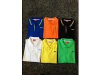 6 x BOYS POLO SHIRTS AGE 13