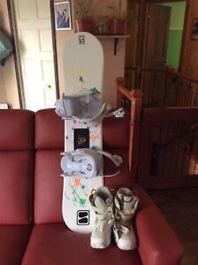 Snowboard avec bottes