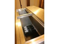 Stainless steel drop bar/catering fridge