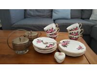 Rose pattern china tea set (made in England)