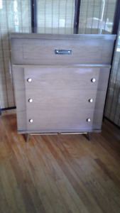 Four Drawer Wood Dresser with Arborite Top