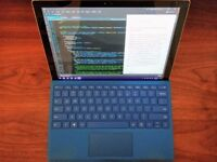 Surface Pro 4 i5, 16GB RAM, 256GB w/ Blue Type Cover + Pen (includes 4 extra tips) + dBrand skin