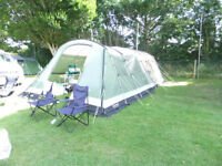 Outwell Montana 6 with front extension, front awning and Carpet