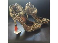 Brand New Ladies Heels with ankle detail - Size 7