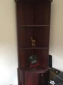 Wooden corner shelf unit - collection only - E14 area