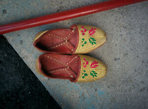 Kids South Asian traditional shoes