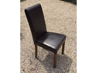 4 Leather Chairs FREE DELIVERY 888