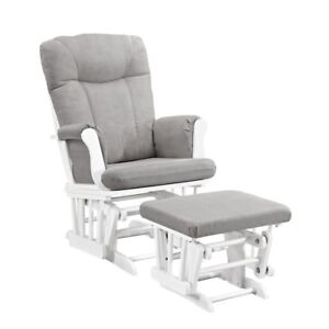 ISO Glider and footstool, all white or white/grey