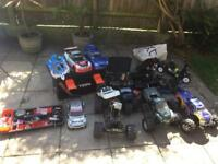 Petrol rc cars job lot