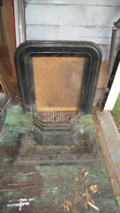 REDUCED coal fireplace insert with bumper and grate