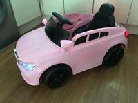 Pink 12v electric Ride on car