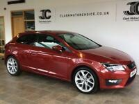 2014 SEAT Leon 2.0 TDI FR (Tech Pack) SportCoupe DSG 3dr (start/stop) Diesel red